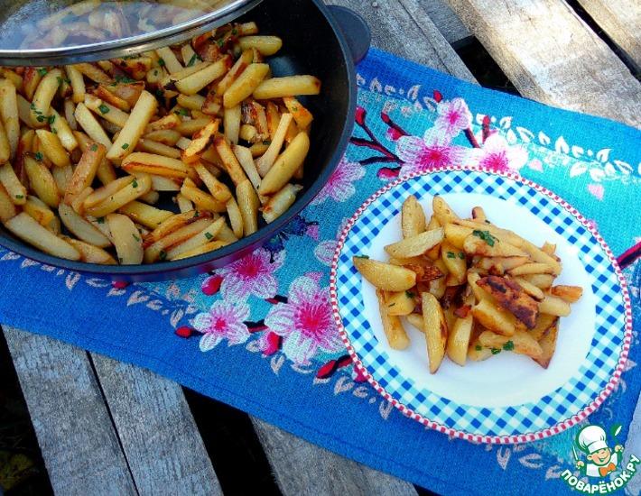 Рецепт: Картофель жареный Сливочный