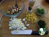 Салат с куриной грудкой и оливками ингредиенты