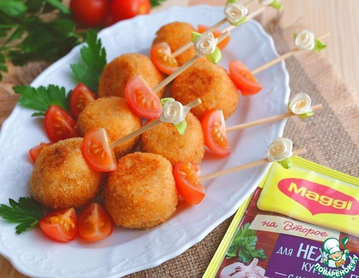 Рецепт: Картофельные шарики с курицей