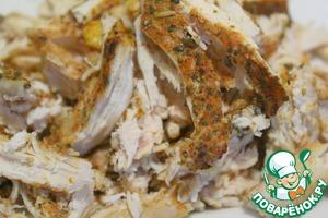 Пряный куриный картофельный салат Примитив Филе куриное