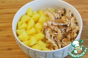 Пряный куриный картофельный салат Примитив Приправа