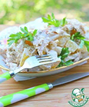 Пряный куриный картофельный салат Примитив Сок лимонный
