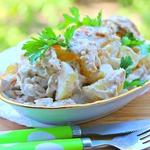 Пряный куриный картофельный салат Примитив