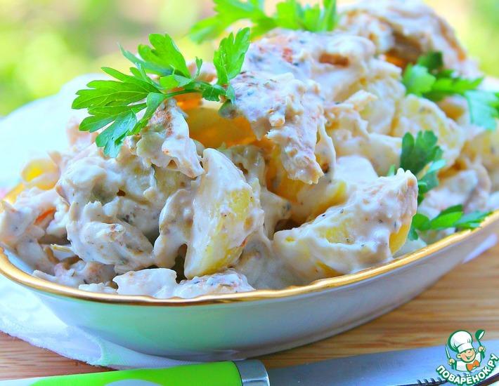 Рецепт: Пряный куриный картофельный салат Примитив