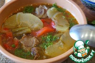 Рецепт: Суп из баранины с яблоками