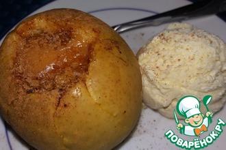 Рецепт: Печеные яблоки с изюмом и карамелью