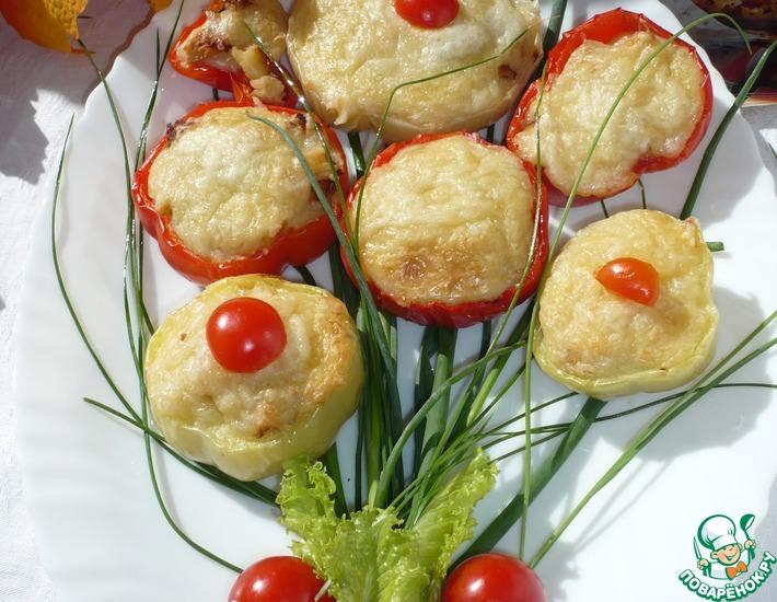 Рецепт: Закуска из болгарского перца с курицей