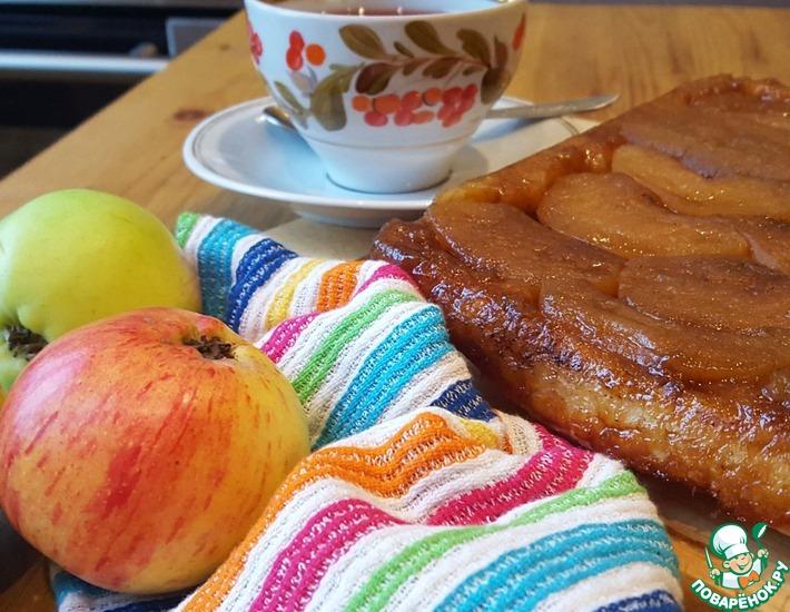 Рецепт: Изумительный яблочный пирог-перевёртыш