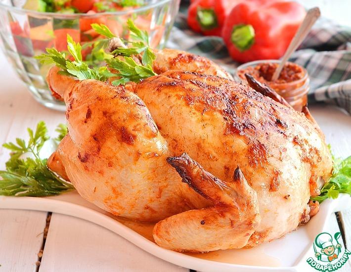 Рецепт: Курица запечённая Перечная