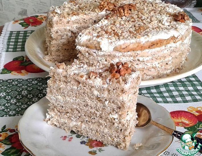 Рецепт: Торт Сладкая тыковка и крепкий орешек