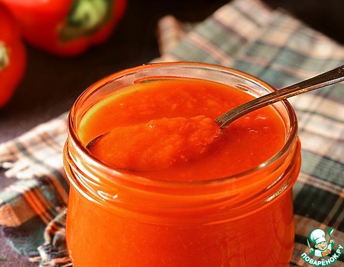 Рецепт: Консервированное пюре из болгарского перца