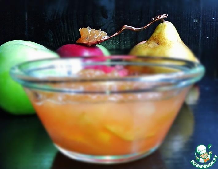 Рецепт: Яблочно-грушевое варенье Медовое