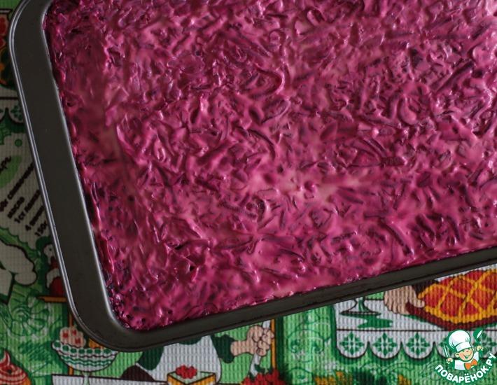 Рецепт: Салат Противень сельди под шубой