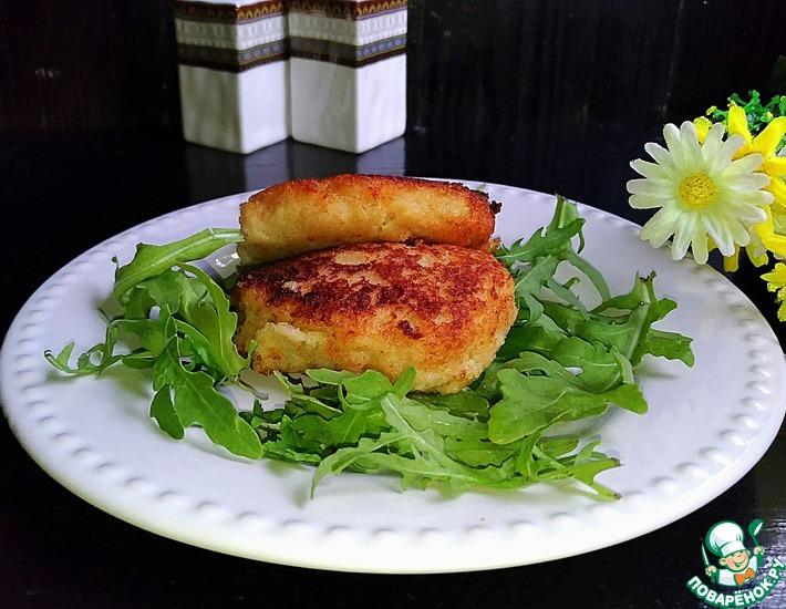 Рецепт: Котлеты из филе минтая Неженки