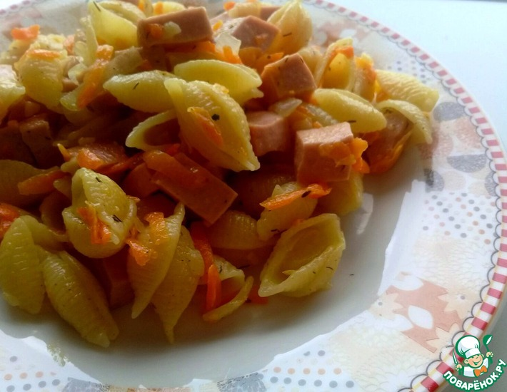 Макароны с колбасой в мультиварке панасоник #4