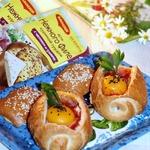 Хрустящие булочки с овощами и курицей