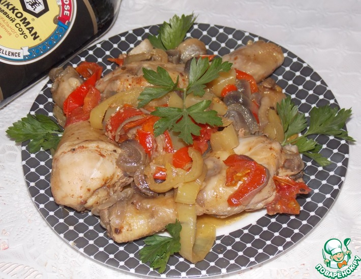 Рецепт: Курица с овощами