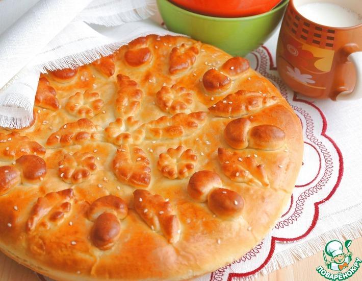 Рецепт: Сдобный пирог с картофелем и шампиньонами