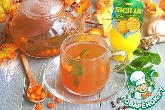 Рецепт: Облепиховый чай с мятой и гвоздикой