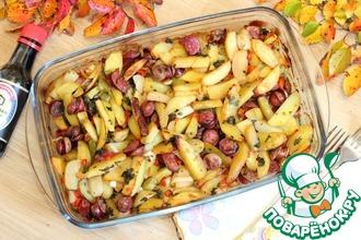 Рецепт: Картофель по-охотничьи в духовке
