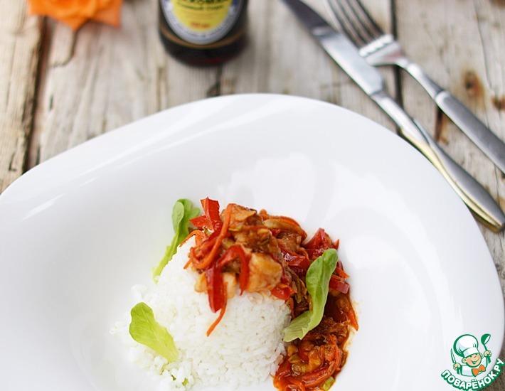 Рецепт: Рыба с овощами в кисло-сладком соусе