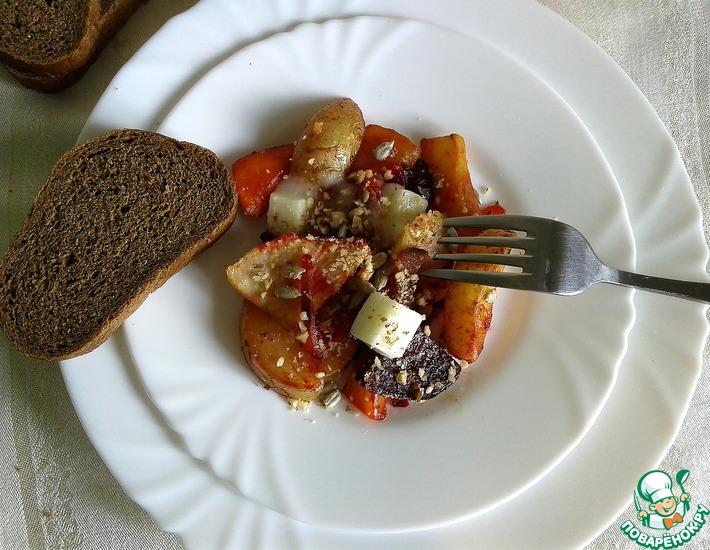 Рецепт: Овощи, жаренные в духовке