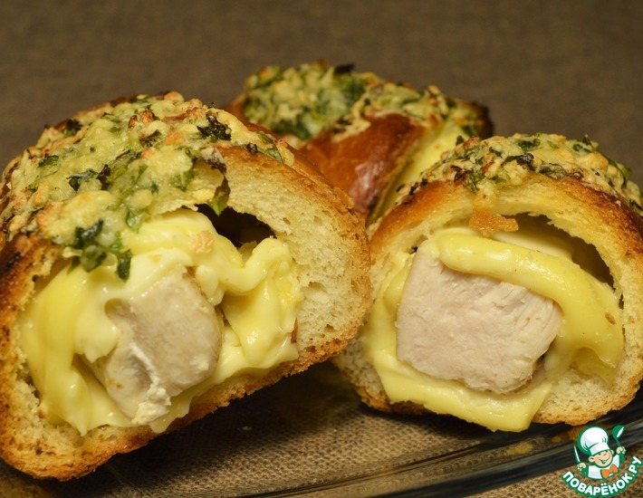 Рецепт: Багет с курицей Провансаль