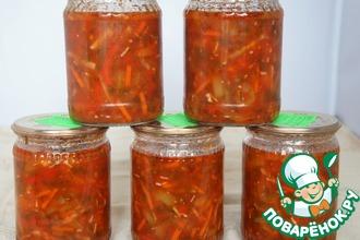 Рецепт: Перец в томатном соусе с овощами