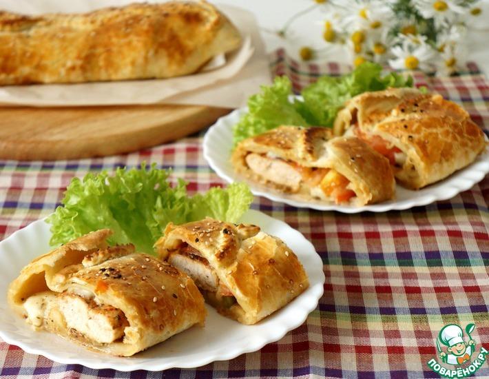 Рецепт: Закусочный пирог с курицей по-итальянски