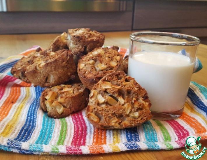 Рецепт: Овсяное печенье с яблоком