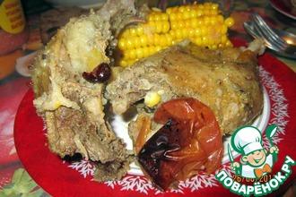 Рецепт: Кокосовая утка в шарабане