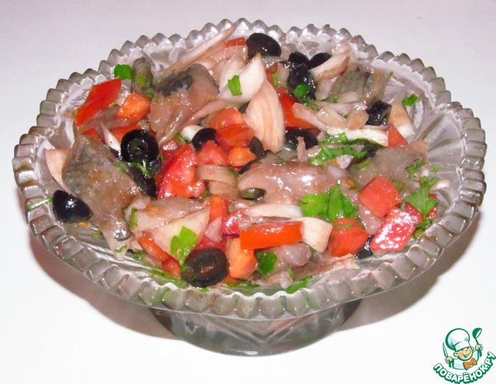 Рецепт: Закуска из сельди по-средиземноморски