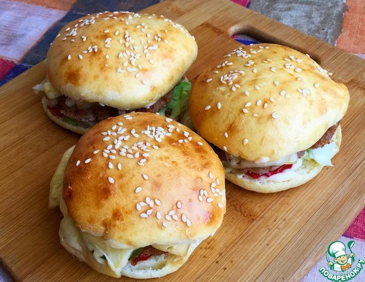 Рецепт: Булочки для бургеров домашние