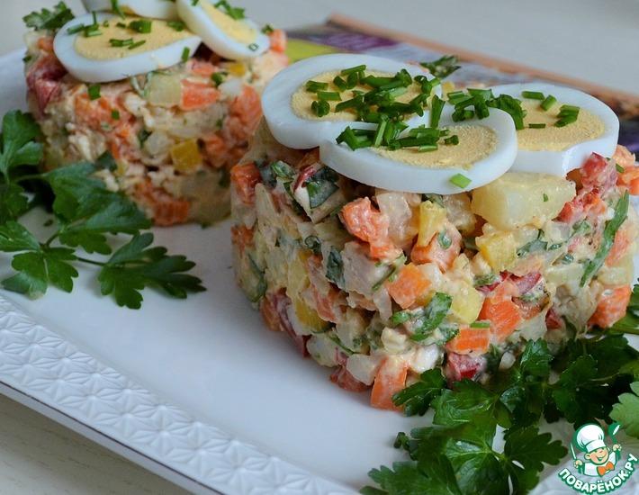 Рецепт: Салат Знакомый