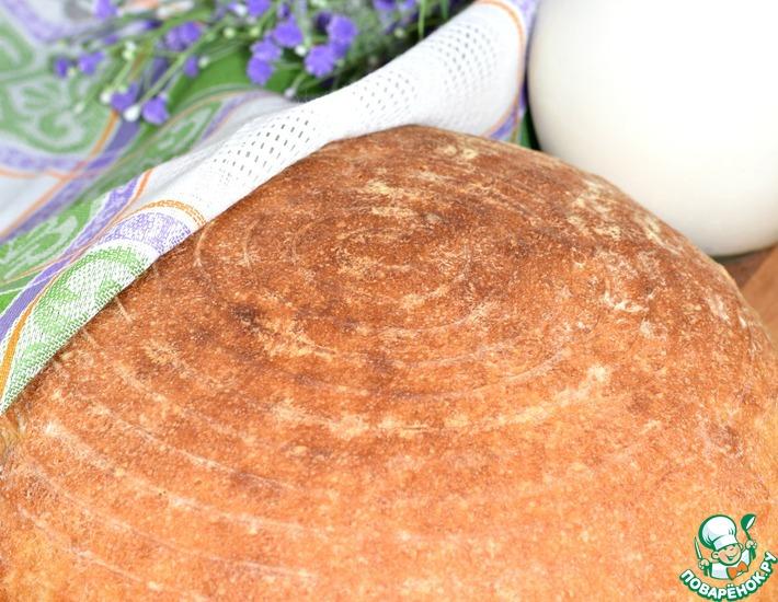 Рецепт: Белый хлеб на простокваше Ночной