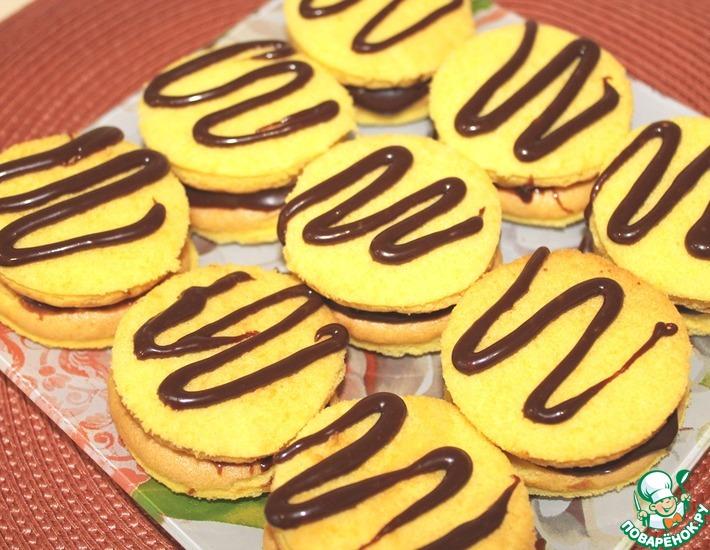 Рецепт: Бисквитные пирожные