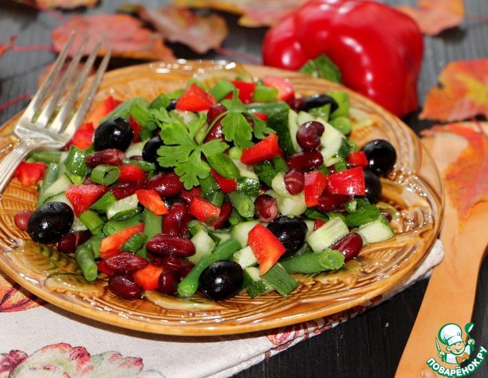Рецепт: Салат Две фасольки