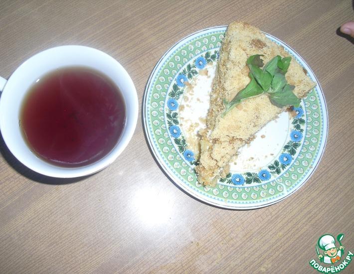 Рецепт: Песочный пирог с творогом Цып-цып