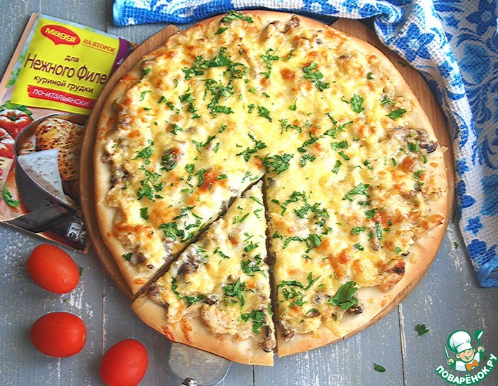 Рецепт: Пицца Жюльен