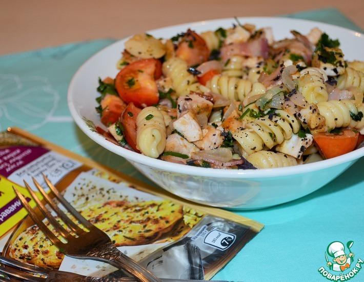Рецепт: Салат с джирандоле и беконом