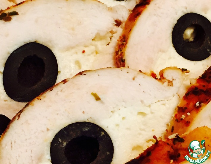 Рецепт: Куриный рулет Черные глаза