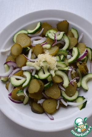Салат из трех видов огурцов ингредиенты