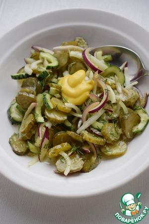 Салат из трех видов огурцов Для салата
