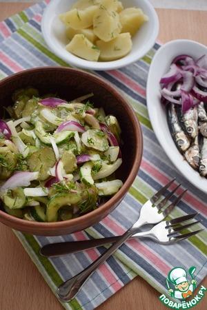 Салат из трех видов огурцов Для заправки