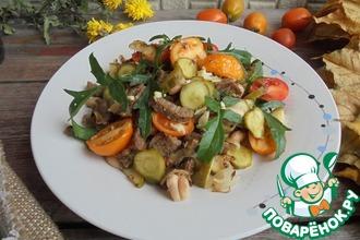 Рецепт: Салат из баранины с огурцами