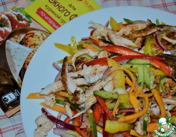 Рецепт: Салат-закуска Соломка