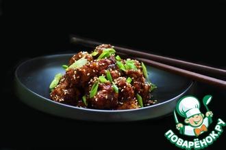 Рецепт: Цветная капуста в липком китайском соусе