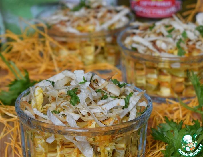 Рецепт: Салат с курицей и лавашом