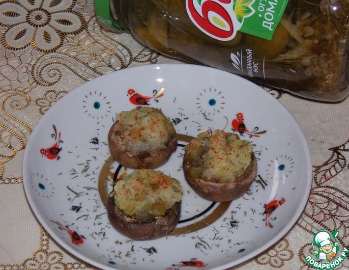 Рецепт: Грибы с картофелем и огурцом