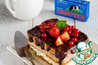 Рецепт: Супер-шоколадный торт без выпечки